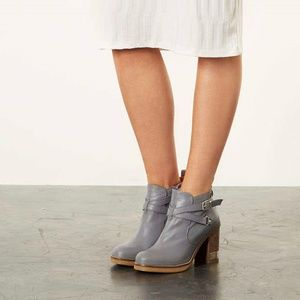 Topshop Egry bootie Sz. 37 (EU) Gray Leather